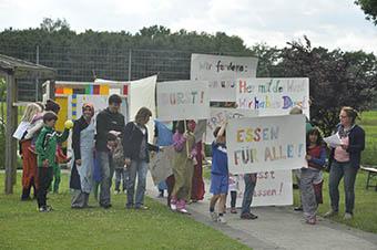 Demo gegen Hunger